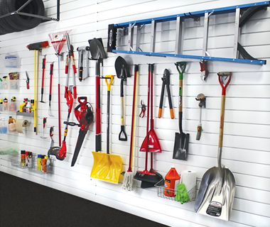 Although This Is Practical It Not Convenient We At Garage Perfect Recommend Installing PVC Slat Wall With Lockable Hooks And Accessories To Organize