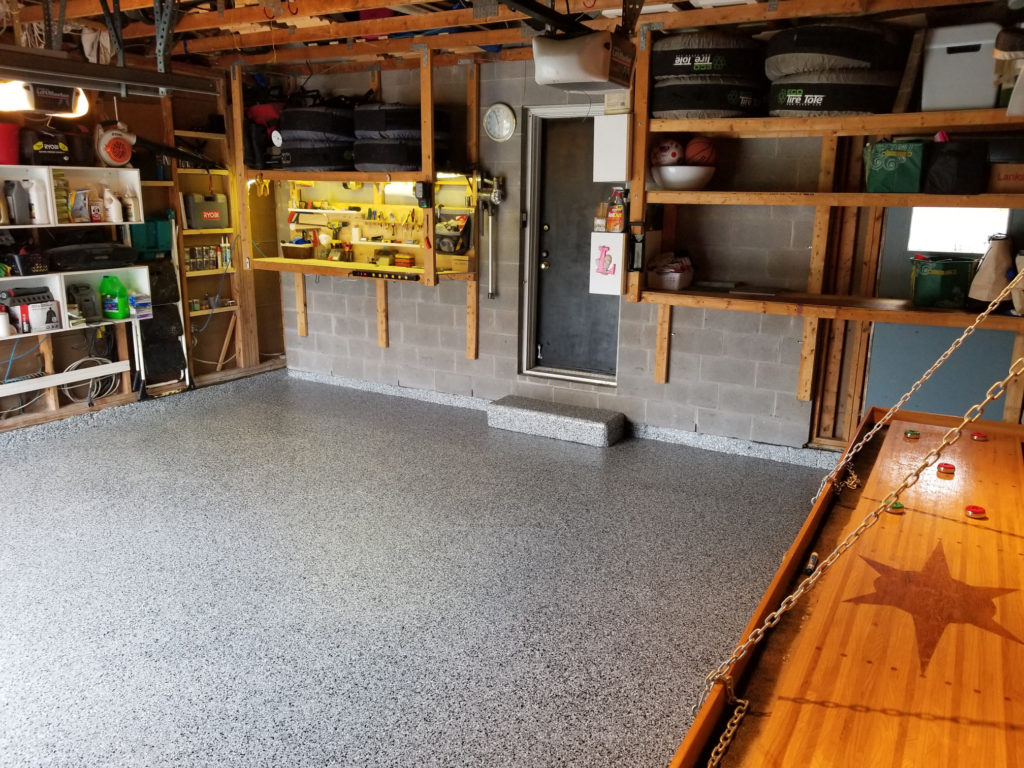Step By Step Process Of Refinishing Damaged Garage Floor