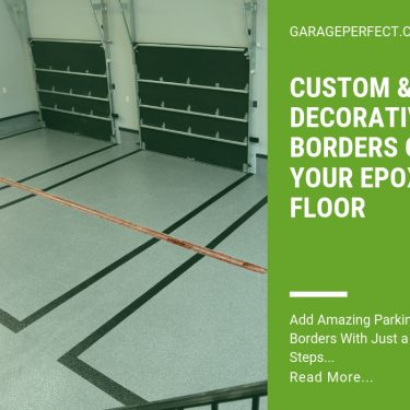 article decorative borders on garage floor
