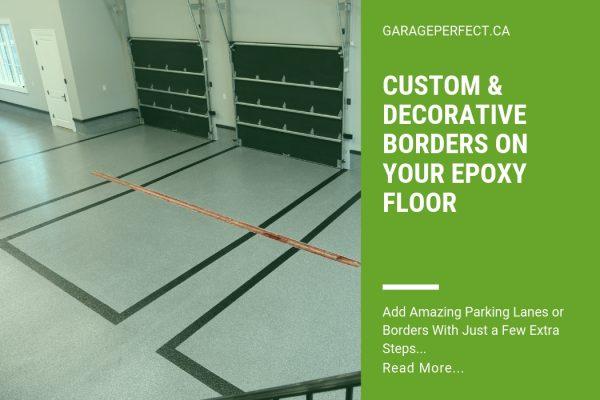 article decorative borders on garage floor